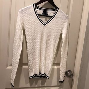 Tommy Hilfiger White Cable Knit Sweater sz XS NWOT